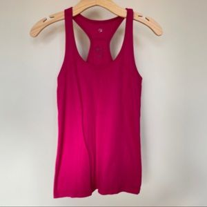 Women's small Old Navy hot pink ribbed tank top